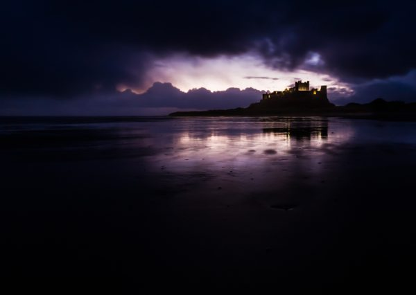 Bamburgh Morn is a limited edition and framed large print