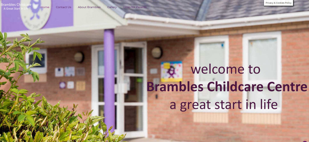 Brambles Childcare website was designed by Ivor Rackham