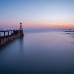 Coquet Island from Amble Pier at dawn