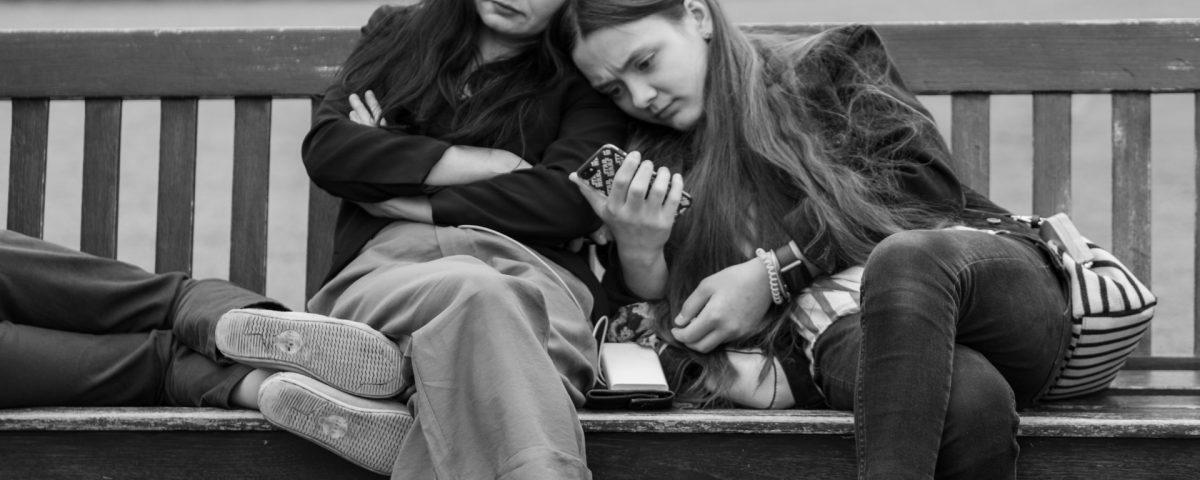 Friends huddle