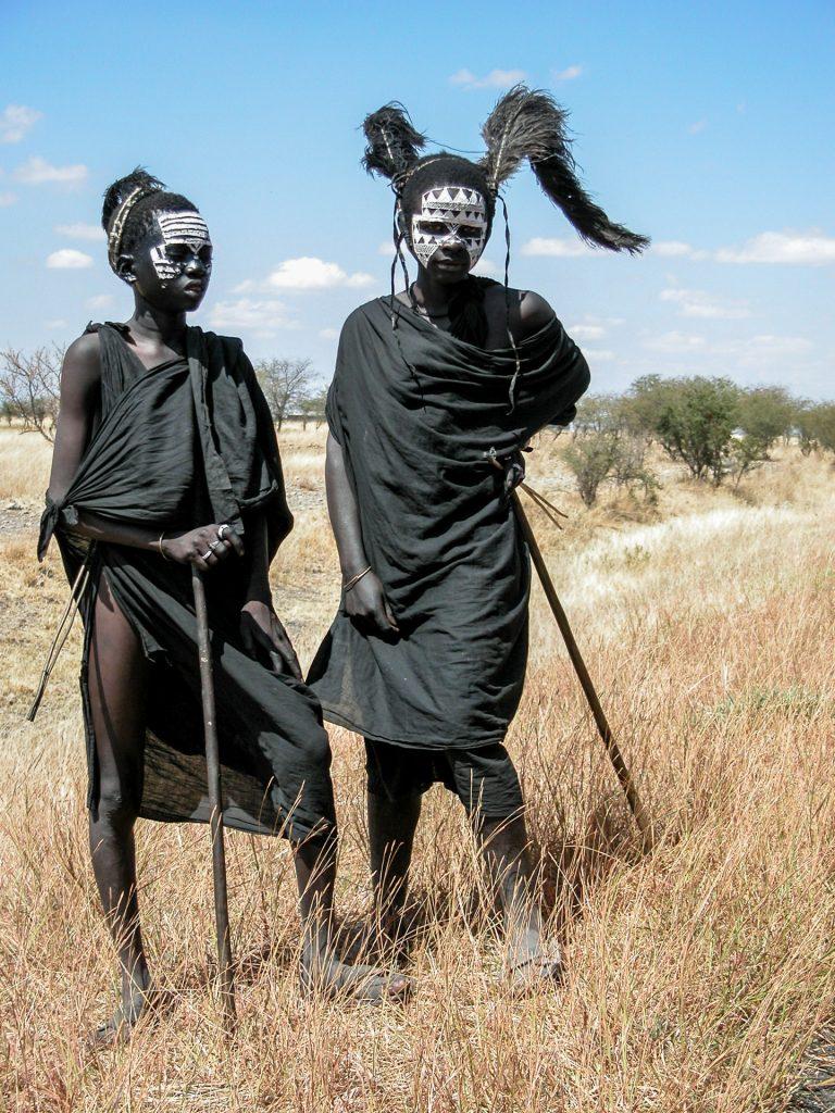Two young Maasai warriors