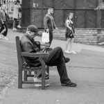 Man in a baseball cap on the phone