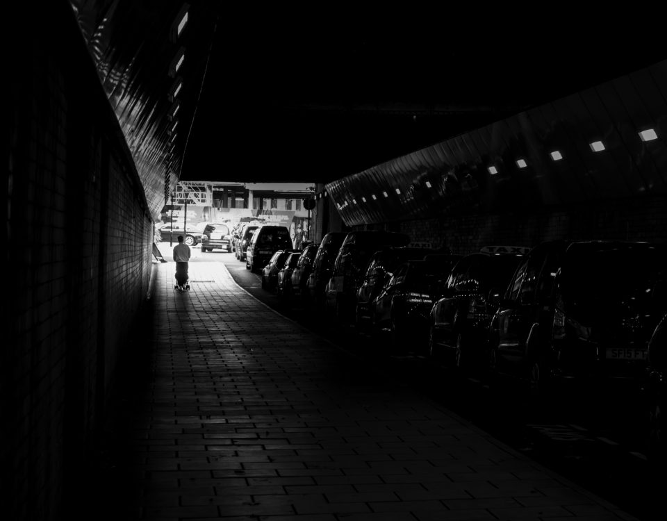 Tunnel Black and white image