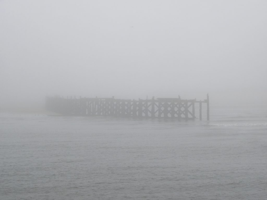 The North Pier in the fog