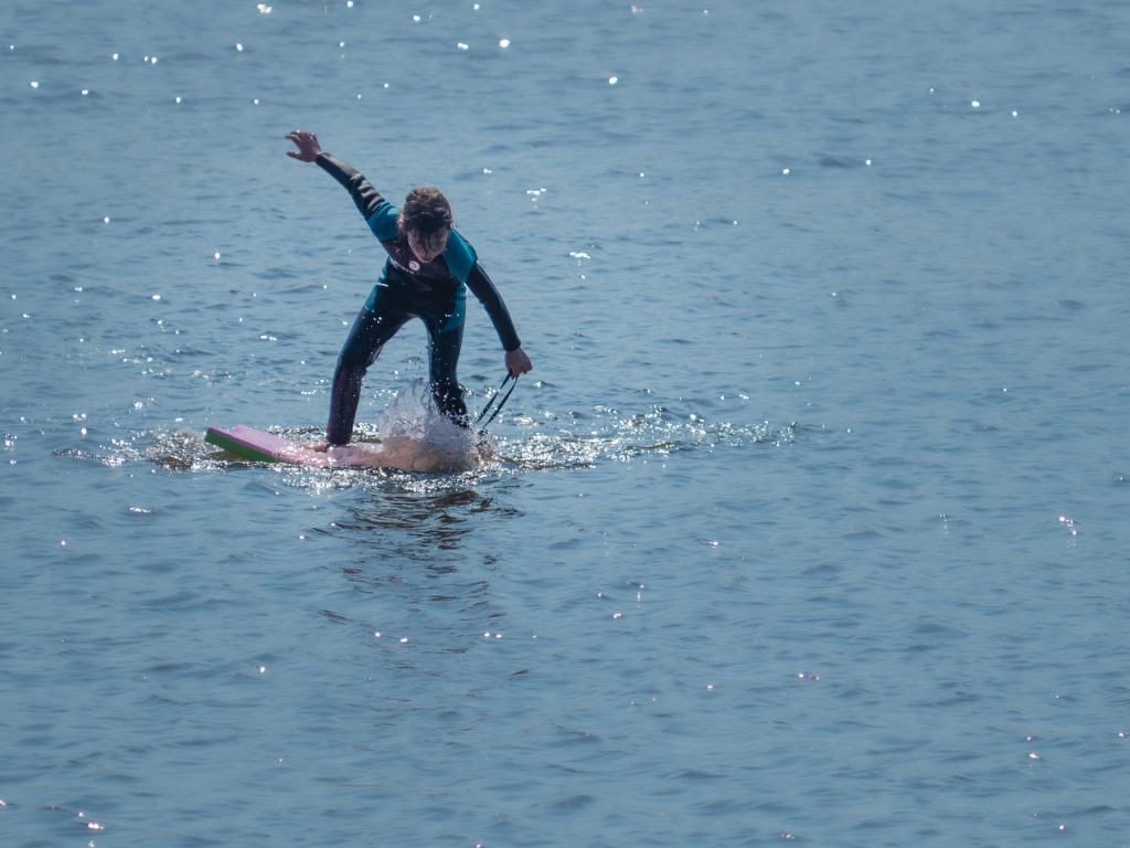 Surfing kid, shot with my E-M1 Mark II
