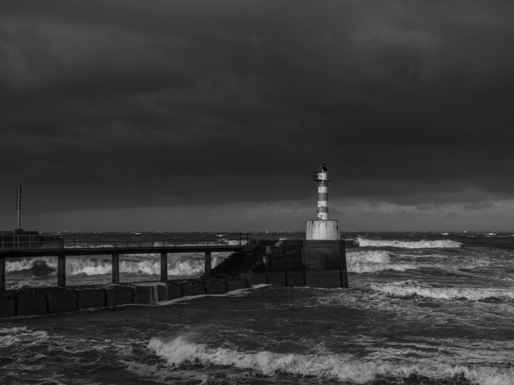 The Harbour Entrance during the storm