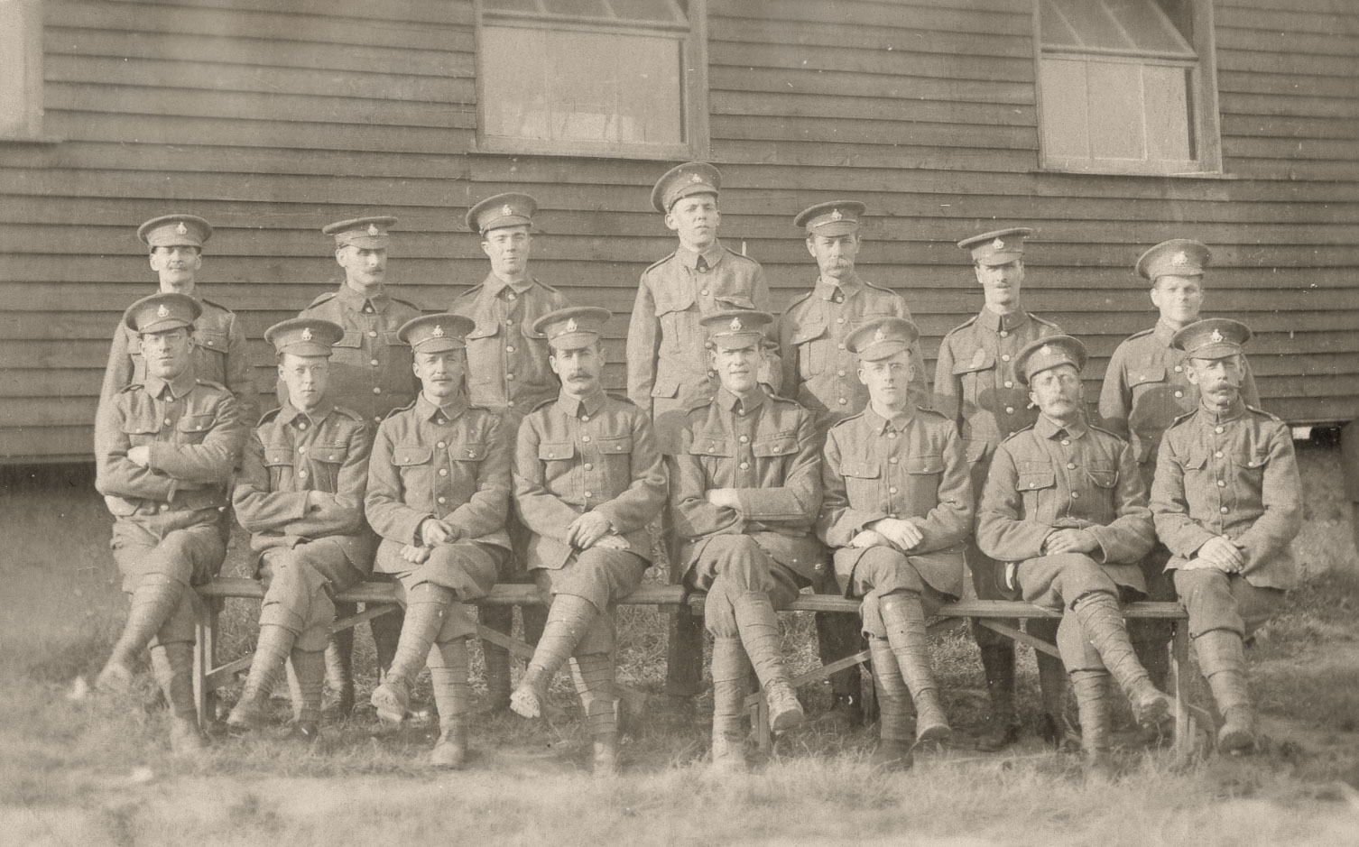 Unrestored version of the Foirst World War Soldiers picture